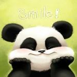 Аватар Панда улыбается приложив лапки к щекам ('Smile')
