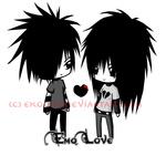 Аватар Эмо парень и девушка стоят и смотрят друг на друга Emo Love / Эмо любовь