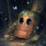 Аватар Бабочки летают вокруг головы робота