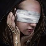 Аватар Девушка с завязанными глазами и крестом в руке