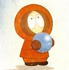 Аватар Kenny McCormick / Кенни Маккормик из мультфильма South park Южный парк с голубым шаром в руках