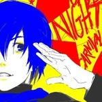 Аватар Vocaloid Shion Kaito / Вокалоид Шион Кайто держит руку около головы
