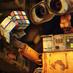 Аватар Валли / Wall-e из мультфильма ВАЛЛ-И / WALL-E держит в руке кубик рубика