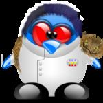 Аватар Пингвин Tux / Такс с котом, официальный логотип и талисман Linux / Линукс