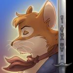 Аватар Мартин Воитель из мультсериала Рэдволл / Redwall, рядом его меч с надписью I am that is
