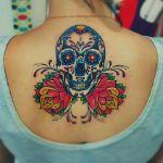 Аватар Цветная татуировка в виде черепа
