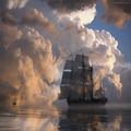 Аватар Парусник на фоне огромных облаков