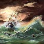 Аватар Корабль в бурном море