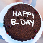 Аватар Шоколадный торт с виноградом (Happy B-Day / с Днем рождения)
