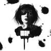 Аватар Портрет девушки с черными пятнами на белом фоне (War / Война)
