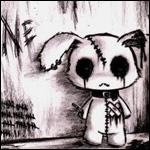 Аватар Игрушечный заяц эмо стоит у стены