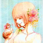 Аватар Девушка улыбается белке, сидящей у нее на руке