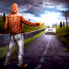 Аватар Парень ловит проезжающую мимо машину