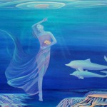 Аватар Девушка под водой и к ней плывут дельфины, картинка от Angelika Nufer