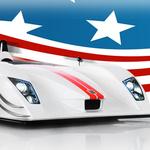 Аватар Гоночная машина на фоне американского флага