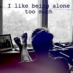 Аватар Девушка сидит, положив ноги на подоконник (I like being alone too much)