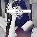 Аватар Плачущая девушка вытирает слезы рукой (Im Fine / Я в порядке)