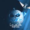 Аватар Тыква с синим пламенем на абстрактном фоне (Inside Your Soul / Внутри твоей души)