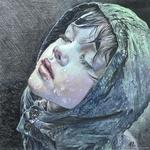 Аватар Девочка в капюшоне запрокинула голову, подставив лицо дождю. Художник Мария Зельдис / Maria Zeldis