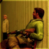 Аватар Террорист L33t из Counter Strike Source сидит на стуле с автоматом Калашникова и охраняет заложников