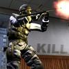 Аватар Спецназовец SAS из игры Counter Strike Source стреляет из автомата (kill)