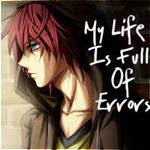Аватар Грустный парень с красными волосами в капюшоне стоит у стены (My Life Is Full Of Errors / Моя жизнь полна ошибок)