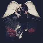Аватар Кастиэль / Castiel из сериала Сверхъестественное / Supernatural смотрит на свое отражение в воде