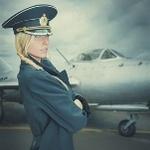 Аватар Девушка в летной форме на фоне самолета, автор JimaGinationPhotogra
