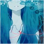 Аватар Нимфа с бирюзовыми волосами, с привязанной к мизинцу красной нитью, в листве