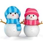 Аватар Два снеговика в шапочке и шарфе