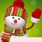 Аватар Снеговик в шапке, шарфе и варежках