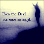 Аватар Силуэт дьявола во мраке (Even the Devil was once an angel / Даже дьявол был когда-то ангелом)