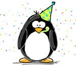 Аватар Пингвин в праздничном колпаке