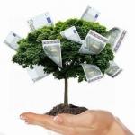 Аватар Деревце с купюрами на ладони