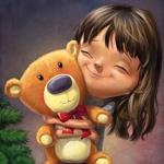 Аватар Маленькая девочка обнимает игрушечного медвежонка