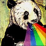 Аватар Панда извергает из рта радугу