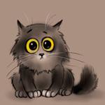 Аватар Серый кот с желтыми глазами