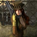 Аватар Девушка в шляпе с оружием в руке