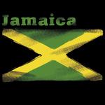 Аватар Флаг на черном фоне с надписью Jamaica / Ямайка
