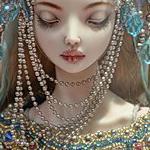 Аватар Грустная кукла, с прикрытыми глазами,