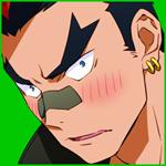 Аватар Смущающийся Кинагасе Тсумугуэ / Tsumugu Kinagase из аниме Круши Кромсай / Kill la kill
