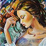 Аватар Портрет девушки, выполненный в акварельном стиле