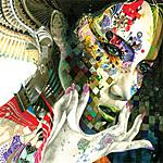 Аватар Образ азиатской девушки, с расписанным лицом в кубик