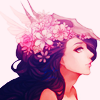 Аватар Весеняя фея с цветами на голове
