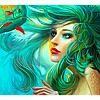 Аватар Русалка смотрит на рыбу