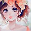 Аватар Девушка с цветами на голове
