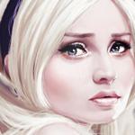 Аватар Нарисованная Эмили Браунинг / Emily Browning из фильма Запрещенный прием / Sucker Punch в роли Куколки / Babydoll