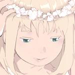 Аватар Девушка, держащая белый венок у себя на голове