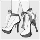 Аватар Женские ноги в туфлях с бантами
