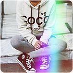 99px.ru аватар Девушка сидит, скрестив ноги